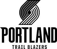Logo for and link to the Portland Trail Blazers