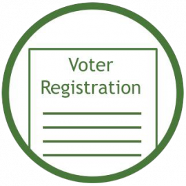 Voter registration icon