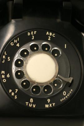 The dial on a rotary telephone.