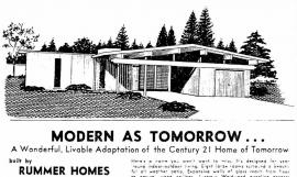 Advertisement for Rummer Homes, Sunday Oregonian, 4/21/1963.