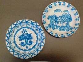 Russian paper plate art
