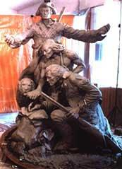 Stanley Wanlass Sculpture with Seaman
