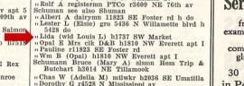 1934 city directory listing for Lida Schuman