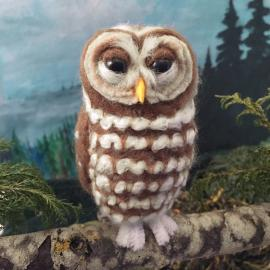 Needle-Felted Spotted Owl
