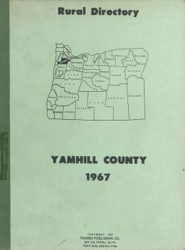Cover of Tscheu Publishing Co.'s Rural Directory of Yamhill County, 1967