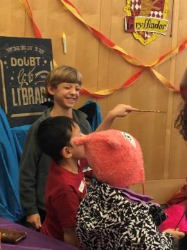 photo of children at Wizard Camp library program