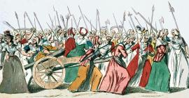 painting of the women's march on Versailles