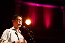 Gene Luen Yang at Alberta Rose Theater, photo by Bitna Chung