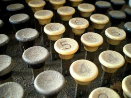 Dusty adding machine keys