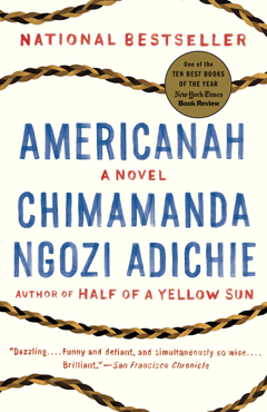 Cover of Americanah and link to catalog entry in My MCL