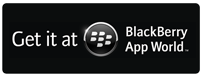 Logo for and link to BlackBerry App World