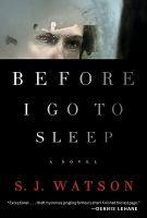 Before I go to sleep bookjacket