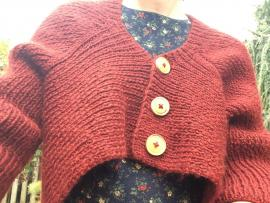 Sweater selfie of Cathy Carron's belle curve cardigan