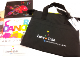Every Child book bag and books