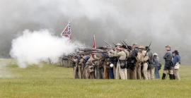 Photo of Appomattox re-enactment