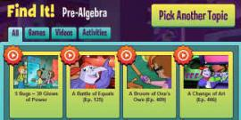 Screen shot of CyberChase website.