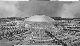 Proposed stadium in Delta Park in the early 1960s
