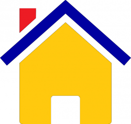 Colorful icon of a house