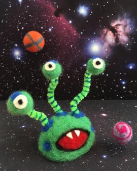 Felted alien
