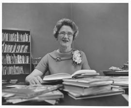 Historical image of librarian