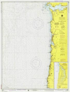 A 1975 chart of Yaquina Head to Columbia River