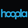 Logo for and link to hoopla streaming media