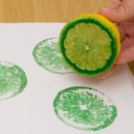 Fruit and Vegetable Printmaking