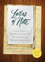 Letters of Note bookjacket