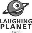 Logo for and link to Laughing Planet Cafe