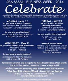 National Small Business Week Flier