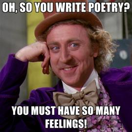 Willy Wonka asks if you write poetry