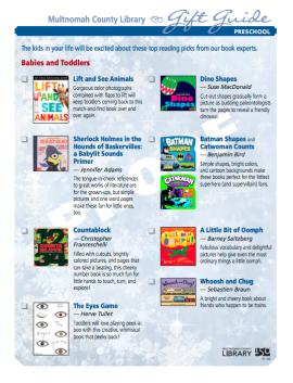Preschool - gift guide