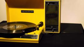 Yellow record player