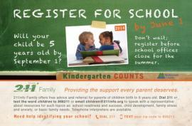 Register for School by June 1st