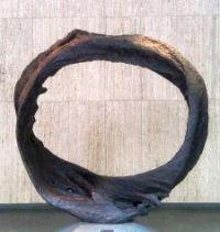 """Ring of Time"" Bronze sculpture by Hilda Morris Standard Plaza at 1100 SW Sixth Avenue Portland OR photo: Beverly Stafford"