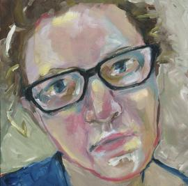 Self portrait painting