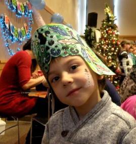 child at Slavic New Year