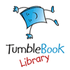 Logo for and link to information on TumbleBook Library