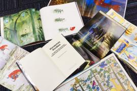 image of several wordless picture books