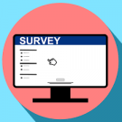 icon showing a generic online survey checklist